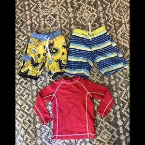 Lands end and other Boys bundle swimwear size 4-4T